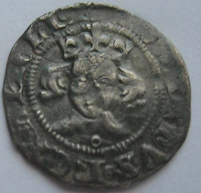 KING  EDWARD III fourth coinage AR  PENNY Annulet below Bust