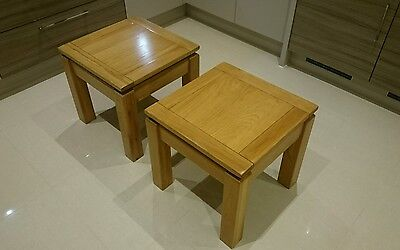 Living room side tables. Solid Oak. Two. Coffee tables