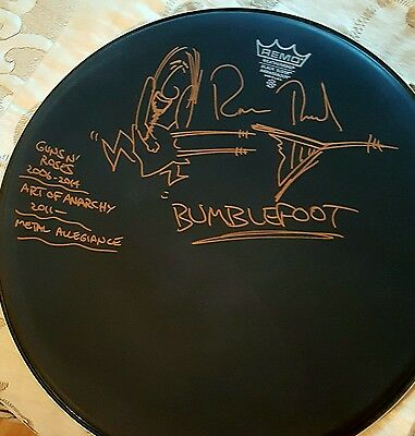 Ron Bumblefoot Thal Signed Drumhead