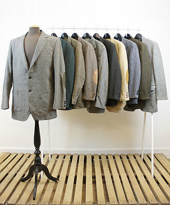Job Lot 10 X Vintage Mens Tweed Jackets