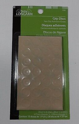 Dritz Longarm Grip Discs 43 Pieces NIP Ruler Grips