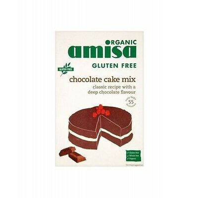 AMISA CHOCOLATE CAKE MIX - GLUTEN FREE 400G x 6 Pack Deal, Organic