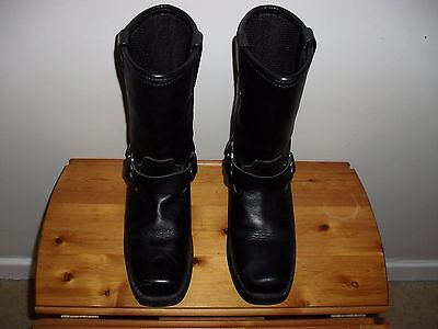Weise  Black   Leather    Motorcycle   Boots Size 6.5 Eu  40
