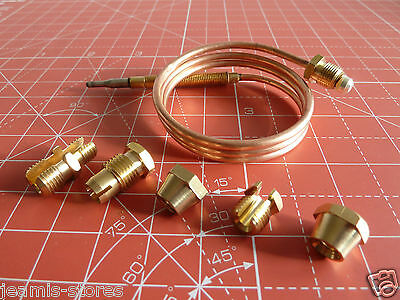 UNIVERSAL Thermocouple Kit 600mm & Fixings Gas Boiler Oven Cooker Grill
