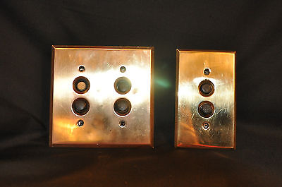 Push Button Wall Switches with Brass Plates