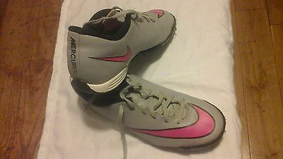 Nike Mercurial Women's Trainers Pink & Grey Running Shoes Size Uk 6