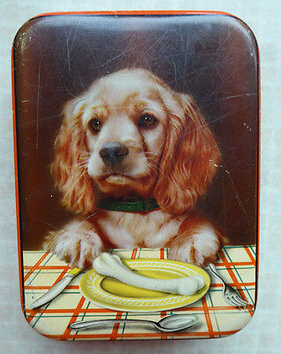 vintage toffee tin sharp and sons dog tin