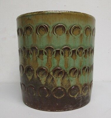 "Brown County Indiana Pottery Planter Pot, 8"" High"
