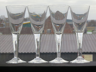 Dartington Crystal Sharon Wine Goblet Glasses - Set Of 4
