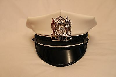 Obsolete Nypd Traffic Officers Hat With Matching Numbers Breast Badge