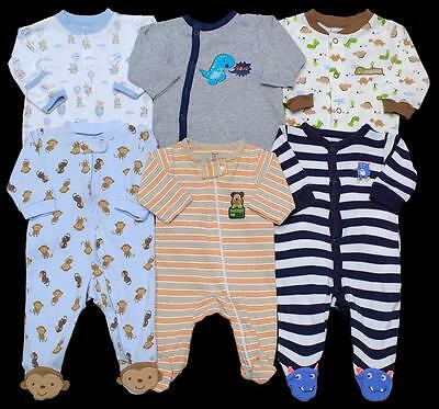 BABY BOY Newborn 0-3 months 3 month footed SLEEPER PAJAMAS Clothes Lot