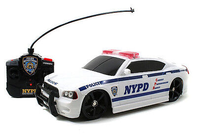 RC 1/16 Radio Control POLICE CAR NYPD Dodge Charger W/ Sirens + Lights