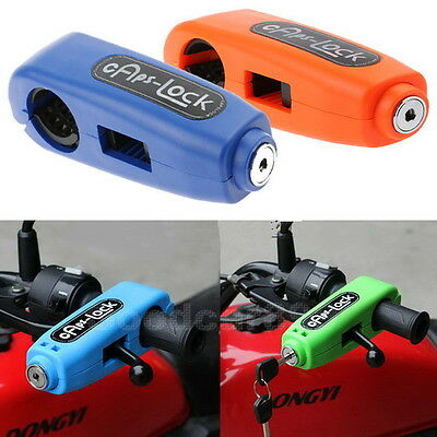 Motorcycle Scooter Handlebar Throttle Grip Brake Cars Lock Anti-theft Safety HOT