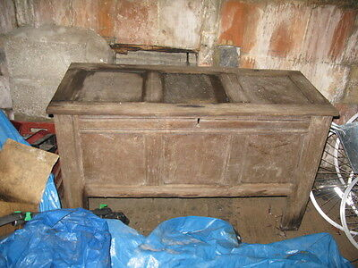 Oak  Chest  Old Antique It Has Some Wear  Vintage Barn Find Shabby Chic Bedford