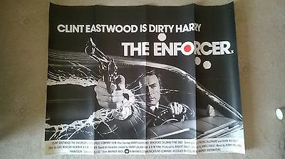 The Enforcer 1976, Original Dirty Harry Uk Quad Poster .