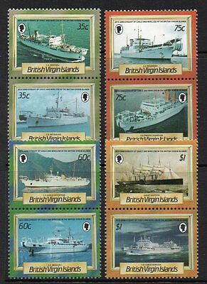 British Virgin Islands 1986 20Th Anniv Of Cable Ships U/m Set Of 8