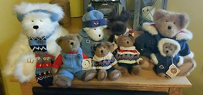 Lot of 8 Boyds Bears WINTER BURRBRUIN Plush Collection w/ tags MOOSE YETTI- MINT