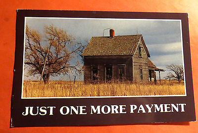 Just one more Payment Funny Comic Chrome Vintage Postcard PC2259