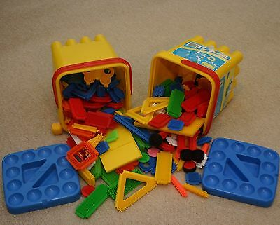 Sticklebricks - large collection of assorted pieces and boards