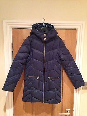 Next Girls Long Padded Winter Coat - Age 12 - Excellent Condition