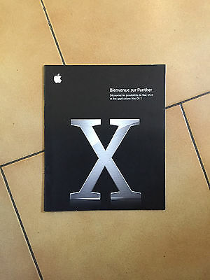 Original Apple Mac OS X Panther 10.3 Welcome Guide (French)