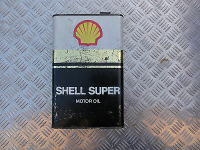 VINTAGE OIL CAN SHELL SUPER - 1960s/70s