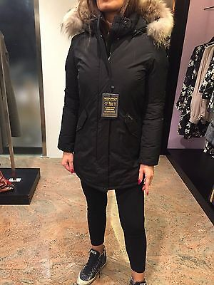 Woolrich G's Luxury Parka Nero Bambina Donna Girl  Wkcps1817 Taglia 12 14 Anni