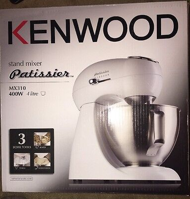 Brand New In Box Kenwood Patissier MX310 White 400w Stand Food Mixer 4ltr Bowl