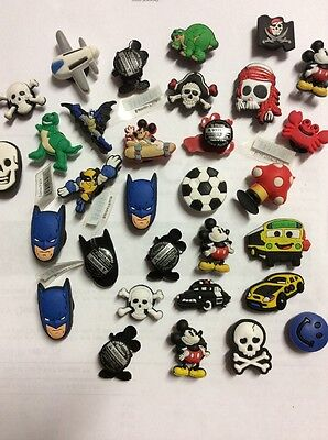 100 X Mixed Boys Pvc Shoe Charms For Croc Shoes/ Wristbands Or Crafts