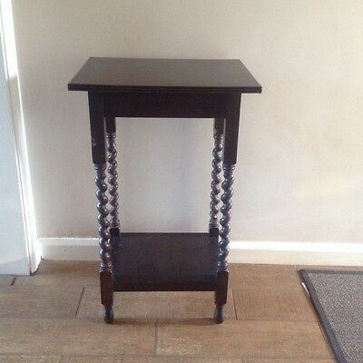 Small Side Console Occasional Wooden Table With Barley Twist Legs