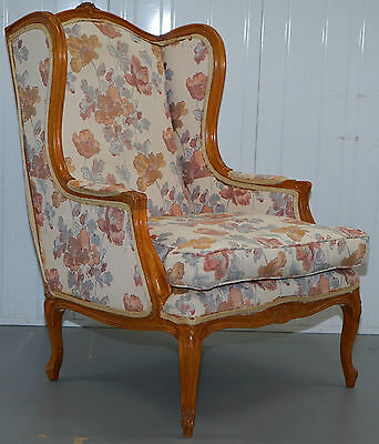 French Louis Style Floral Upholstery Laura Ashley Armchair With Reversible Seat