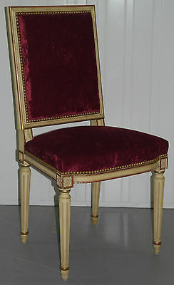 Laval France Mahogany Chair Rrp £1500 Crushed Velvet Part Of Suite 5 Available