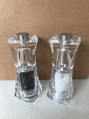 Cole & Mason Salt & Pepper Shakers Crystal GS 125mm Clear