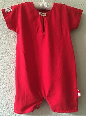 Made in Italy size 3-6 months Red 100% cotton one-piece romper  – H