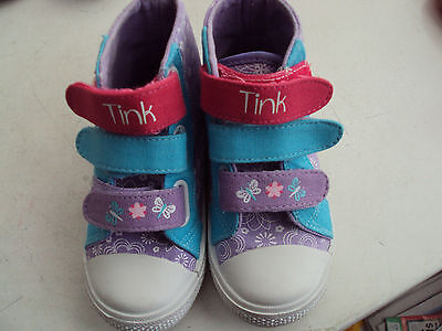 Disney Fairies Size 8 Shoes Boots Sneakers Tinkerbell High Top Girls
