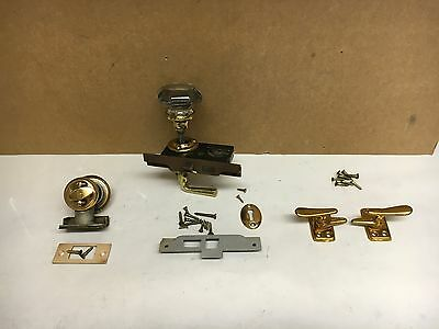 Antique Vintage French Door Hardware. Thumb Turns, Plates. Knobs mortise