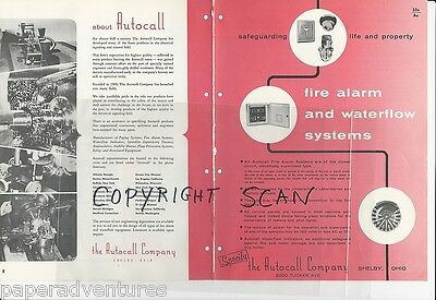 1958 AUTOCALL Fire ALARM BOXES Signal Bells Water Call SYSTEMS Vintage Catalog