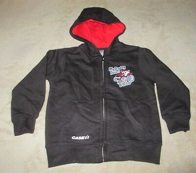 "Case Ih  Zippered Hoodie Toddler 24 Mo. Black ""my Daddy Drives A Red Tractor"""