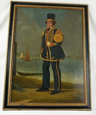 19Th Century Oil On Canvas Painting Of A British Sailor