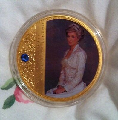 Diana Portraits of a Princess 70mm Swarvoski Stone Coin