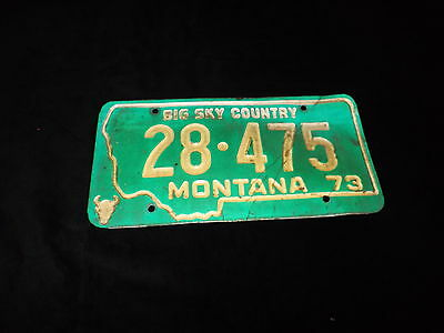 1973 STATE OF MONTANA License Plates 28-475