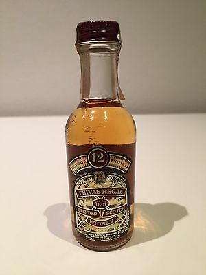 Chivas Regal 12 Years Old Blended Scotch Whisky - Rare 1970's Miniature