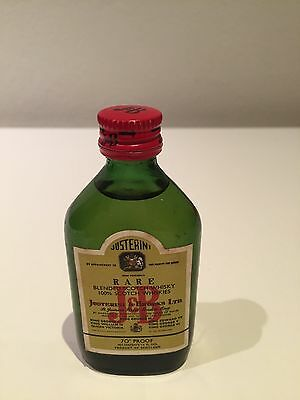 J & B Rare Blended Scotch Whisky Circa Late 1960's Miniature Bottle