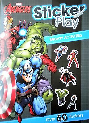 Marvel Avengers sticker play children's book Mighty Activities new