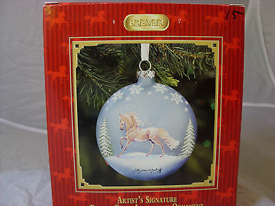 Artist Signature Blown Glass Andalusian Ornament--Kathleen Moody-NIB-2009