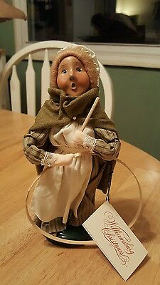 byers choice carolers williamsburg Christmas  girl with hoop