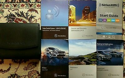 2014 Mercedes Benz S Class Owners Manual  Complete Set With Case