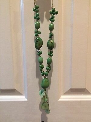 Stones Turquoise Tagua Necklace by Organic Tagua Jewelry