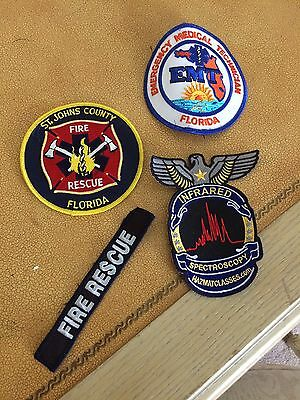 Fire Rescue Patch And Sticker Lot