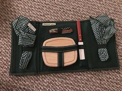 Wine & Cheese Picnic Set Cheese Board With Slicer Travel - Picnic At Ascot